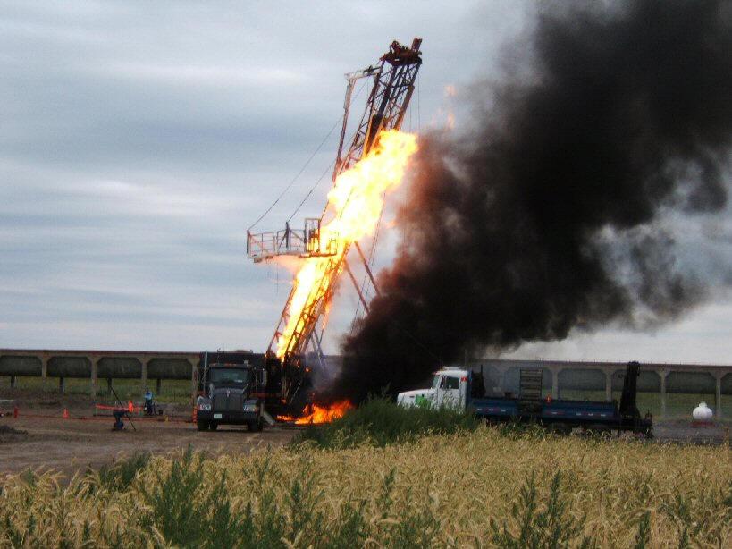 Brooks Alberta Oilfield Blowout